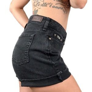 Vintage Lee cut off black jean shorts